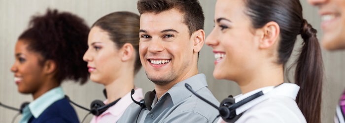 call center agents happy