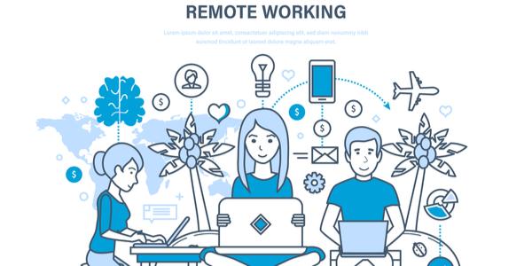 remotely working team